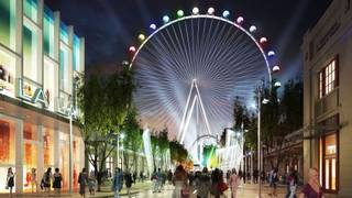 An artist's rendering of the proposed restaurant/entertainment district Project Linq.