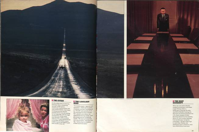 Twenty-five years ago this summer, Life magazine named U.S. Highway 50, as it crosses Central Nevada, the loneliest road in America. A photo of a straight stretch of empty highway fixed it in the national imagination as a symbol of the state's vast emptiness.