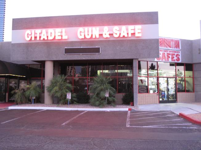 Citadel Gun and Safe, 4305 Dean Martin Drive, was raided by federal agents Friday afternoon, Aug. 19, 2011. No details were immediately released.