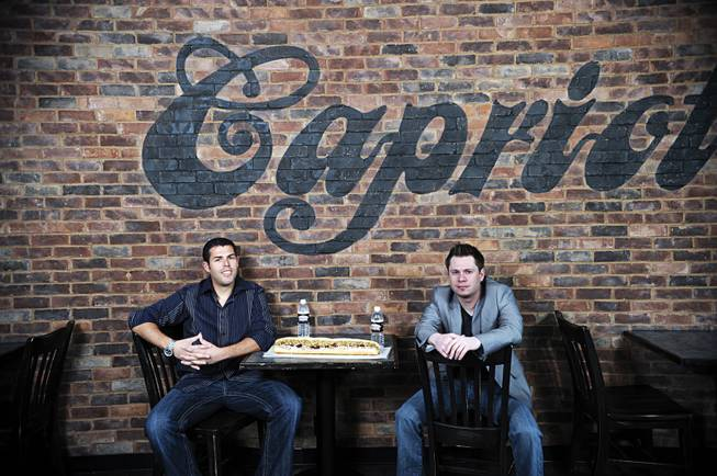 Ashley Morris, left, and Jason Smylie are executives at Capriotti's Sandwich Shop, and they plan to expand over the next 10 years. The company was named to Inc. Magazine's list of the nation's 5,000 fastest-growing companies.