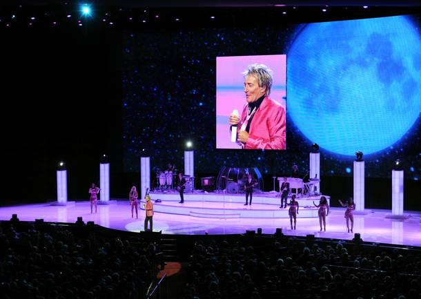 Rod Stewart at Caesars Palace on Aug. 24, 2011.