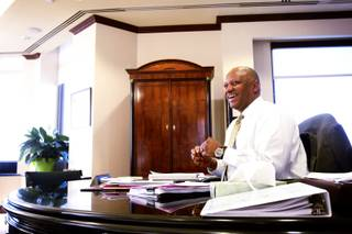Dwight Jones, superintendent of the Clark County School District, inside his office in Las Vegas Thursday, August 25, 2011.