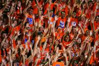 Bishop Gorman students cheer during their game against Florida's Armwood on Friday, August 26, 2011. Armwood won the game between the two nationally ranked teams, 20-17.