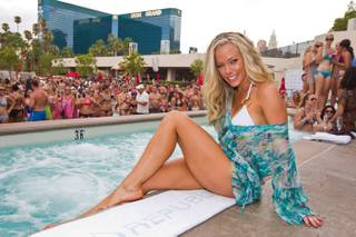 Kendra Wilkinson-Baskett hosts at Wet Republic at MGM Grand on Aug. 27, 2011.
