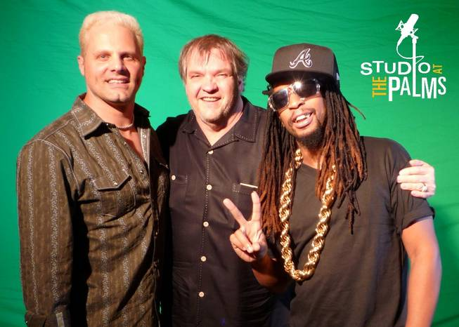 Paul Crook, Meat Loaf and Lil Jon at Studio at the Palms.