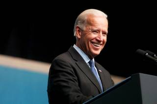 Vice President Joe Biden speaks during the National Clean Energy Summit on Tuesday, Aug. 30, 2011, at the Aria Convention Center.