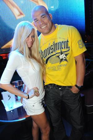 Jenna Jameson and Tito Ortiz at XS on Aug. 28, 2011.