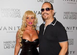Ice-T and Coco Austin at Vanity and 35 Steaks + Martinis at the Hard Rock Hotel on Sept. 2, 2011.