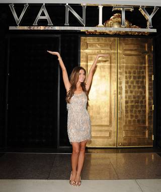 Audrina Patridge at the Hard Rock Hotel's Vanity and 35 Steaks + Martinis on Sept. 3, 2011.