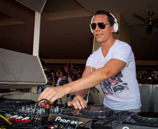 DJ Tiesto at MGM Grand's Wet Republic on Sept. 3, 2011.