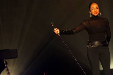 Sade performs at the MGM Grand Garden Arena Saturday, September 3, 2011.