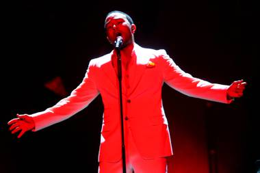 John Legend opens up for Sade at the MGM Grand Garden Arena Saturday, September 3, 2011.