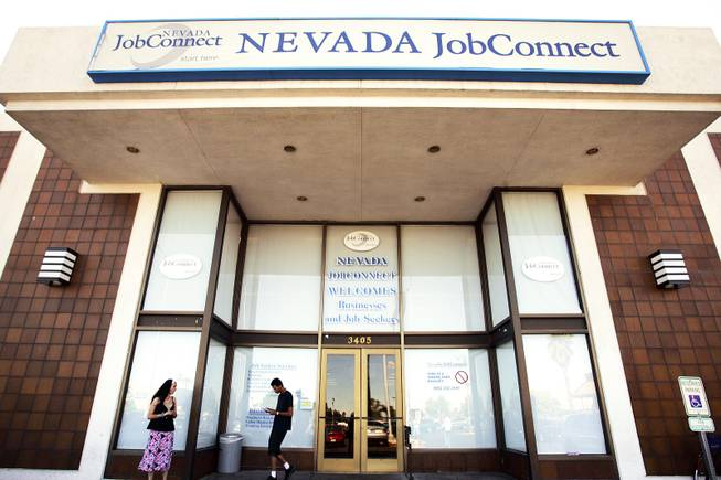Nevada JobConnect on Maryland Parkway in Las Vegas. A new report finds that economic recovery in Las Vegas is hampered by a lack of educated workers and reliance on industries most vulnerable to the recession.