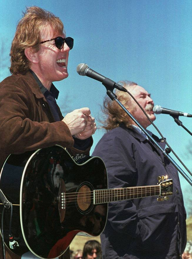 Graham Nash and David Crosby, at a concert in Kent, Ohio