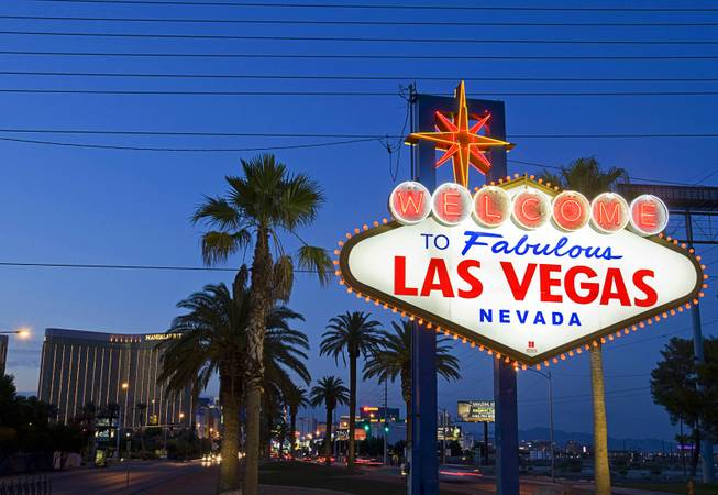 A view of the Welcome to Fabulous Las Vegas sign in Las Vegas, Nevada September 10, 2011.