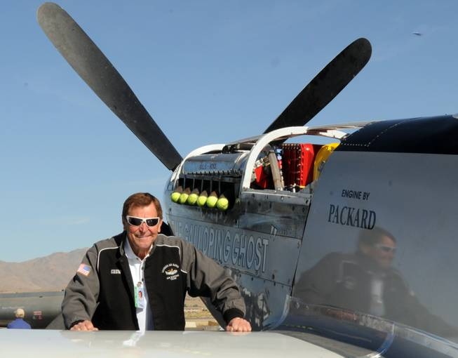 This Wednesday, Sept. 15, 2010, photo, shows long time Reno Air Race pilot Jimmy Leeward with his P51 Mustang.  A spokesman for Reno's National Championship Air Races says the P-51 Mustang that crashed into a box seat area at the front of the grandstand Friday, Sept. 16, 2011, at the air race was piloted by Leeward.