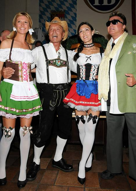 Siegfried & Roy celebrate Oktoberfest at Hofbrauhaus on Sept. 17, ...