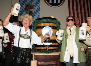 Siegfried & Roy celebrate Oktoberfest at Hofbrauhaus on Sept. 17, 2011.