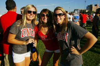 Scenes from tailgating before the UNLV vs. Hawaii football game Saturday, September 17, 2011.
