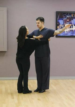Cheryl Burke and Rob Kardashian Jr. rehearse for Season 12 of Dancing With the Stars.
