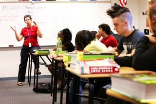 Elizabeth Meinhold teaches Honors English Literature at Western High School in Las Vegas on Wednesday, Sept. 21, 2011.