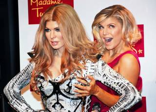 Fergie of The Black Eyed Peas visits Madame Tussauds Las Vegas for the unveiling of her wax figure Thursday, Sept. 22, 2011.