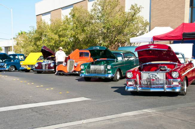 Hundreds of classic cars line the street in Henderson's historic down town for this years Super Run Car Show Friday, Sept. 23, 2011.