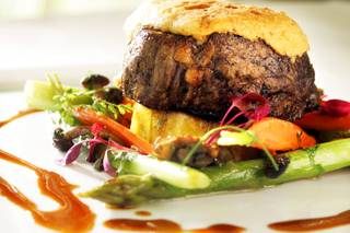 The beef tenderloin at Aureole at Mandalay Bay Friday, September 23, 2011.