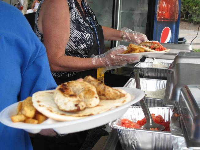 Guests enjoyed plates of Greek fries, gyros and a full authentic Greek dinner that included feta cheese and Greek salad.