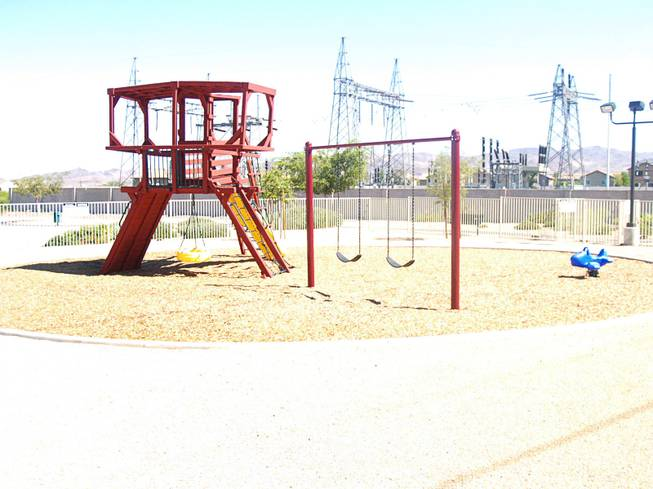 A view of a playground in the Sagewood community in Henderson Monday, Sept. 26, 2011.