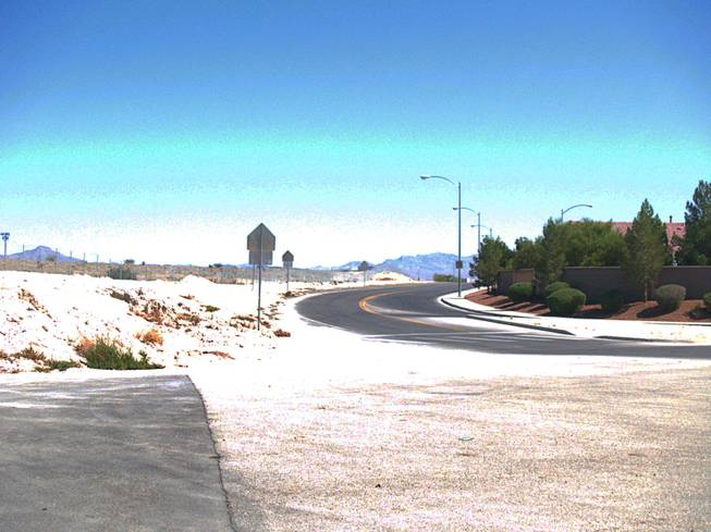 A view at the edge of the Parks community in North Las Vegas Monday, Sept. 26, 2011.