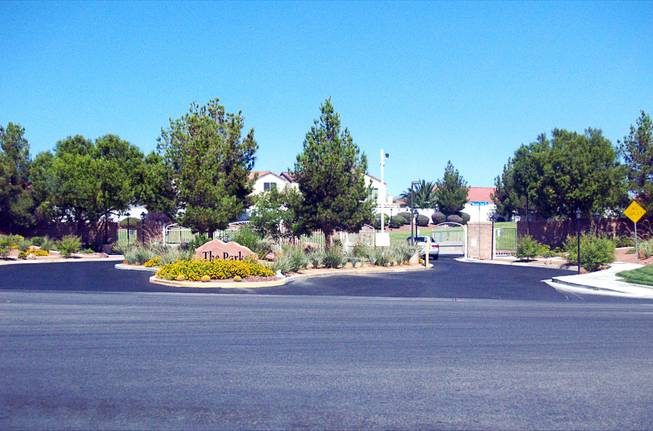 A street view of the Parks community in North Las Vegas Monday, Sept. 26, 2011.