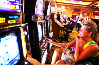 Crystal Kulish of Henderson plays video poker at Green Valley Ranch in Henderson on Wednesday, Sept. 28, 2011.
