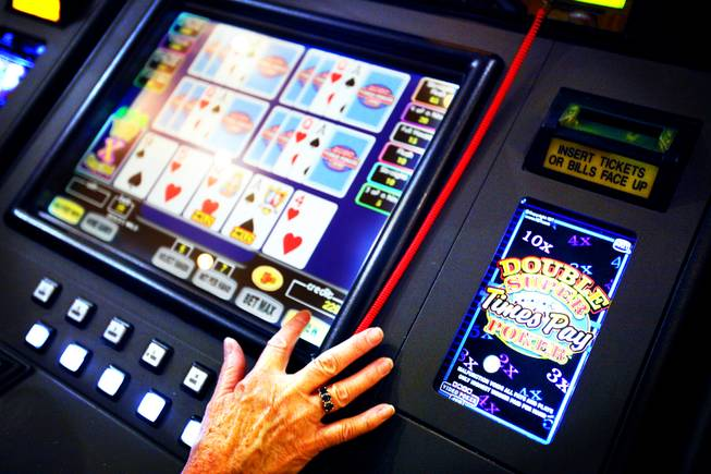 Video poker machines are seen at Green Valley Ranch in Henderson on Wednesday, Sept. 28, 2011.