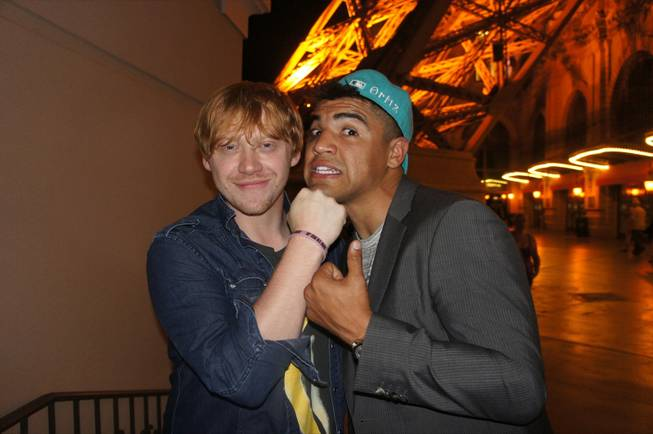 Rupert Grint and Victor Ortiz at Sugar Factory in the Paris.