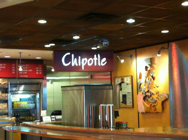 Chipotle in the food court between Harrah's and Casino Royale