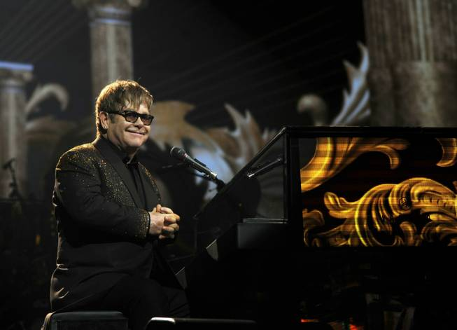 "Elton John's ""The Million Dollar Piano"" at the Colosseum on Wednesday, Sept. 28, 2011, in Caesars Palace."