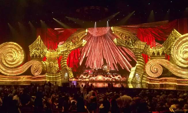 Elton John's stage for <em>The Million Dollar Piano</em> at Caesars Palace on Sept. 28, 2011.