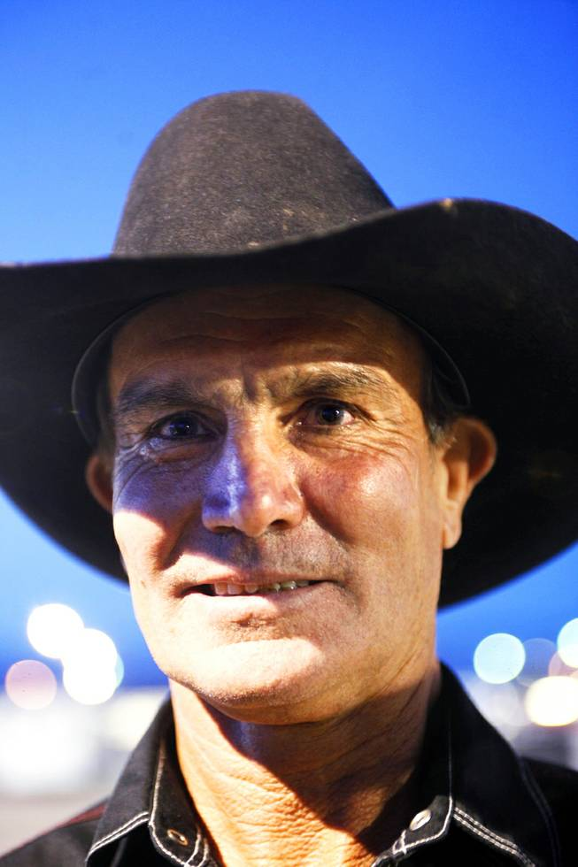 "John Birks of Australia during registration day for the Senior National Finals Rodeo at Horseman's Park in Las Vegas Tuesday, October 4, 2011. ""I have retired (from competing in rodeos) four times, but there is no life after rodeo."""