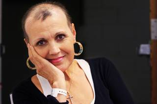 Michaelina Bellamy, who was undergoing chemotherapy in this photo taken Oct. 5, 2011, died Saturday, April 7.