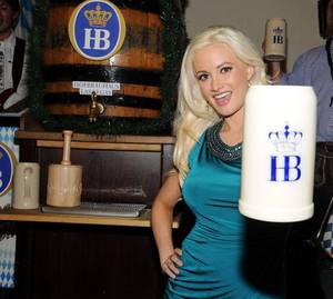 Holly Madison at Hofbrauhaus for 2011 Oktoberfest
