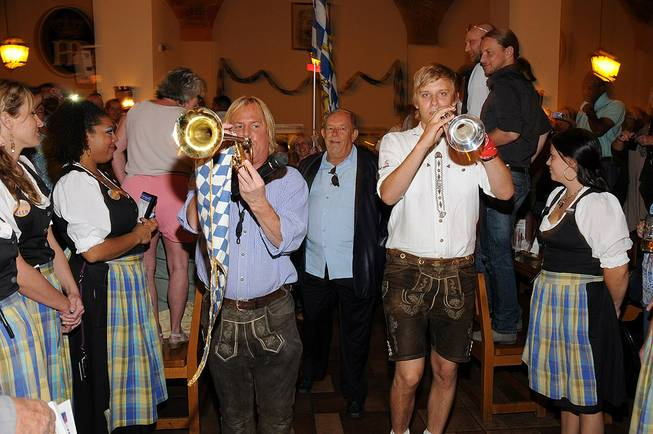 Robin Leach at Hofbrauhaus for Oktoberfest on Oct. 8, 2011.