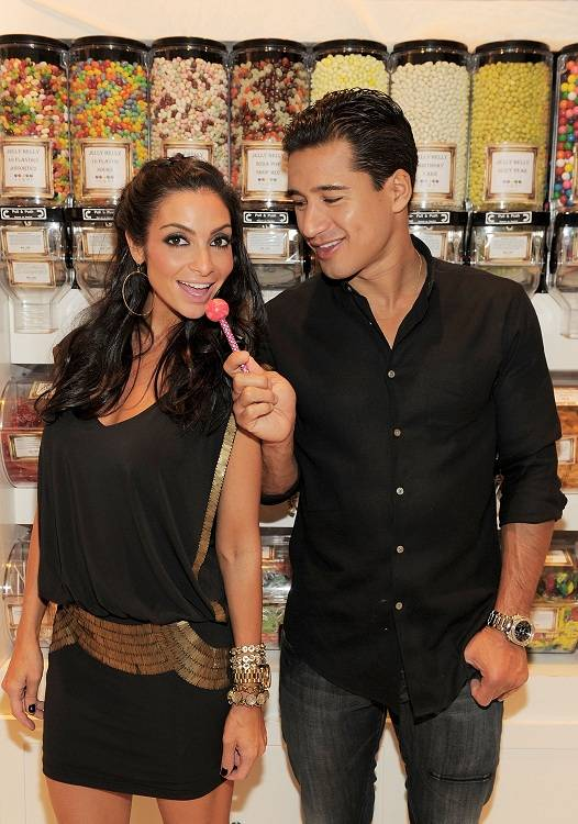 Courtney Mazza and Mario Lopez at Sugar Factory in the Paris on Oct. 8, 2011.