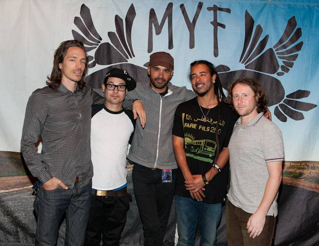 Incubus backstage at The Joint in the Hard Rock Hotel on Oct. 8, 2011.