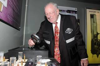 Oscar Goodman at CSI: The Experience in MGM Grand on Oct. 10, 2011.