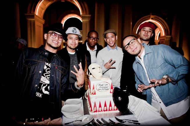Jabbawockeez celebrate their first anniversary at Monte Carlo.