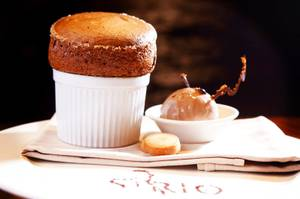Chocolate souffle Sirio Ristorante at Aria in CityCenter on Wednesday, ...