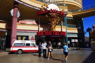 The recently opened Heart Attack Grill is seen in the old Jillian's space at Neonopolis on Thursday, Oct. 13, 2011.