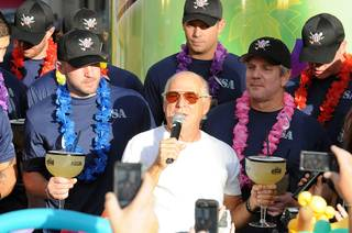 Jimmy Buffett celebrates his new Margaritaville Casino and the World's Largest Margarita at the Flamingo on Oct. 14, 2011.
