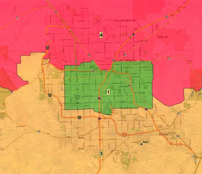 North Las Vegas Map Boundaries.Court Releases Congressional District Maps Las Vegas Sun Newspaper